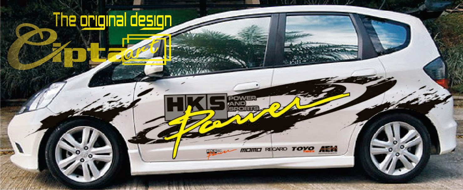 Kumpulan Modifikasi Cutting Sticker Mobil Honda Jazz Rekanotomotif